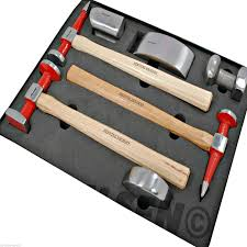 auto body repair tools.  Repair Auto Body Panel Repair Tool Hammer Kit 7pc Hickory 4 X Dollys Beating For Tools O