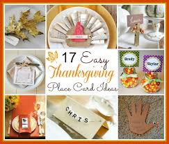 home made thanksgiving cards 17 diy thanksgiving place card ideas