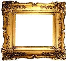 vintage gold frame transpa png