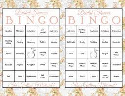 Wedding Bingo Words 60 Bridal Bingo Cards Bridal Shower Bingo Game Prefilled Bingo Bridal Shower Game Printable Download Floral Paris Wedding Wd1001