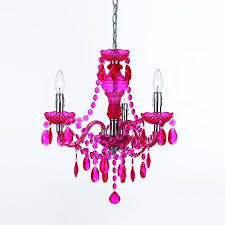 get ations angelo home collection 8502 hot pink three light mini chandelier