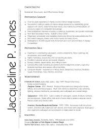 Interior Designer Resume Objective Interior Ideas