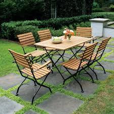 vineto rectangular teak folding table