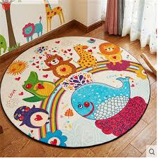 round kids rug decor