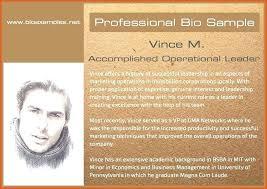 Business Brief Example Professional Bio Examples Sample Brief Example Short Generator