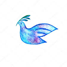 peace symbol dove with olive branch stock photo