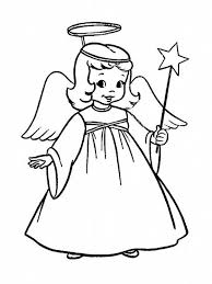 a charming little girl in angel costume on christmas coloring page    a charming little girl in angel costume on christmas coloring page