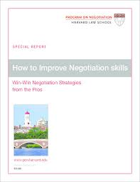 Pdf Win Win Negotiation Strategies From The Pros How To