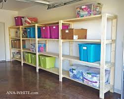shelving systems simple wood garage shelves