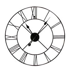large black metal wall clock large