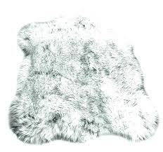 gray fur rug grey and white faux fur rug fake fur rugs black tip wolf faux gray fur rug