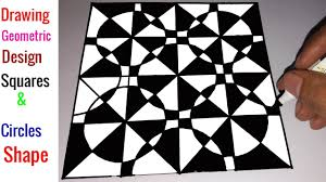Geometric Shapes For Design Drawing Geometric Design Squares Circles Shape Step By Step Arts