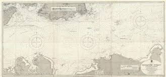 Details About 1927 Admiralty Nautical Chart Map Of Singapore Strait East