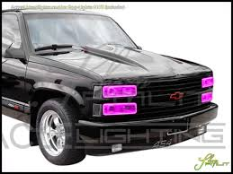 Chevy Blazer Fog Lights Oracle 92 94 Chevrolet Blazer Dual Led Halo Rings Headlights Bulbs