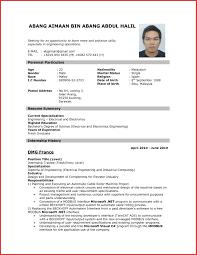 Inspirational Application Cv Sample Type Of Resume