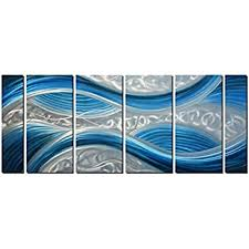 handmade abstract metal wall art with soft color large scale decor in blue line design on blue abstract metal wall art with amazon handmade abstract metal wall art with soft color large