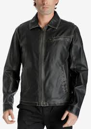 lucky brand men s distressed faux leather jacket