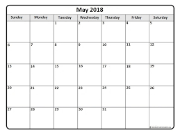printable monthly blank calendar may 2018 printable calendar pdf free monthly template