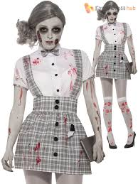 las zombie school girl costume womens fancy