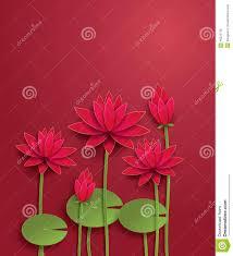 Paper Lotus Flower Vector Lotus Flower Stock Vector Illustration Of Health