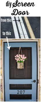 Diy Screen Door Kit Diy Screen Door Tutorial Free Plans