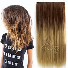 Dark Brown To Blonde Ombre Hair Extensions