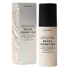 makeup brush cleaner spray. mecca cosmetica - brush with success 150ml makeup cleaner spray