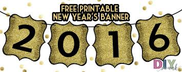 happy new year banner 2016. Perfect 2016 Happy New Year 2016 Free Printable Banner To