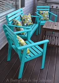 The power of paint Love this deck furniture makeover The Great