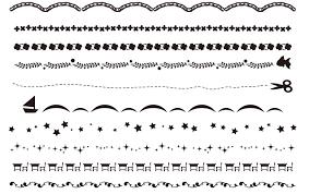 卒園卒業アルバム文集ページで使える白黒罫線のイラスト素材集