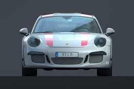 Porsche 911 R (2016) and Komenda's car body design - hashsign.eu