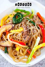 Japchae <b>Korean Glass</b> Noodles (잡채)   Oh My Food <b>Recipes</b>
