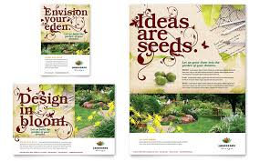 Sample Flyers For Landscaping Business Landscape Design Flyer Ad Template Design