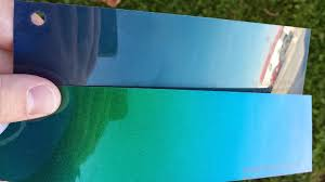 Outrageous Emerald Green Vs Flip Flop Blue Premier Paint
