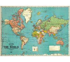 World Map Posters Cavallini Papers Co Cavallini World Map 4 Wrap Poster