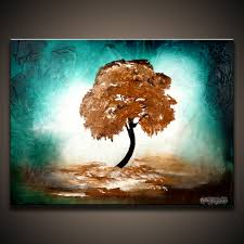 modern abstract painting of a tree by peter dranitsin silent 20x16 acrylics