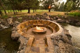 Awesome Sunken Fire Pit Seating Pictures Ideas