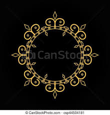 Black vintage frame design Scrapbook Black White Gold Vintage Frame On Black Background Line Art Monogram For Your Design Csp44504181 Can Stock Photo Gold Vintage Frame On Black Background Line Art Monogram For Your