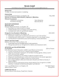 Related Coursework On Resume Example