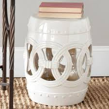 safavieh double coin white ceramic patio stool white garden stool i20
