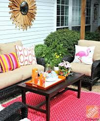 outdoor patio decor patio decor ideas outdoor rug dark wicker patio furniture and pink and orange small outdoor patio decorating ideas