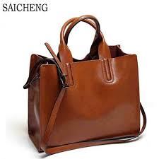 leather bags handbags women famous brands big casual women bags trunk tote spanish brand shoulder bag las large bolsos mujer high quality leather you ca