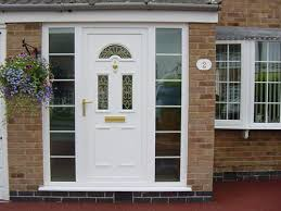 entrance door with glazed side panels