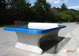 concrete ping pong table. Blue Concrete Ping-pong Table Rounded Ping Pong