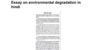 essay on environmental degradation in hindi google docs