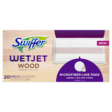 swiffer wetjet wood mopping pads 20 count