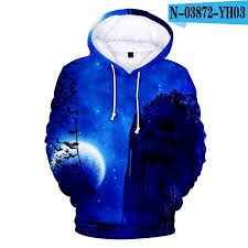 3D Mountain in Night <b>Digital Printing</b> Hooded Sweatshirts for Men ...