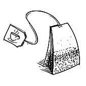 tea bag clipart.  Bag Tea Bag Close Up Bag With Label And Clipart T