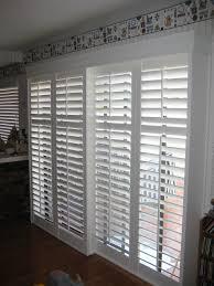 image of white blinds for sliding glass door