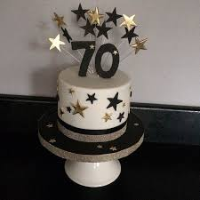 Cake Designs For Mens 70th Birthday Mini 70th Birthday Cake Black And Gold 70th Birthday Cake